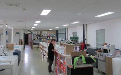Qbright LED verlichting: een goede investering bij De 11e Druk | NCS Repro