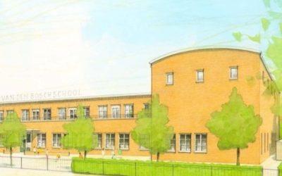 DME past Qneqt vlakband toe bij nieuwbouw Ds. D.A. v.d. Boschschool in Den Haag