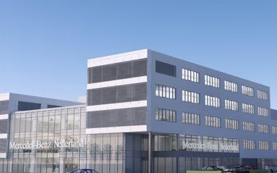 Stekerbaar installeren met HOMIJ bij ombouw hoofdkantoor Mercedes-Benz Nederland