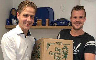 Zomeractie voor groothandels: Jäger Direkt ontvangt een Big Green Egg Mini!