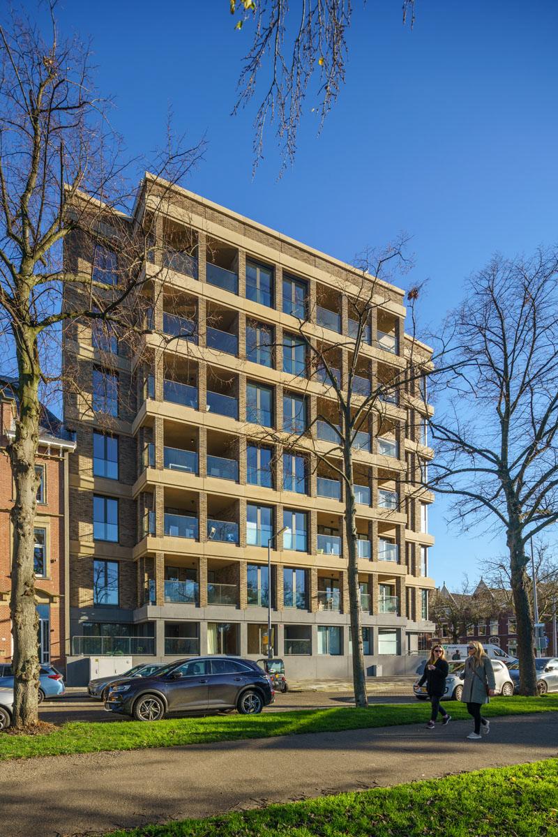 Zijaanzicht gebouw De Raedt in Rotterdam met VORM